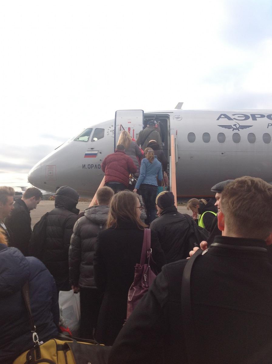Посадка на рейс Аэрофлота Нижний Новгород - Москва
