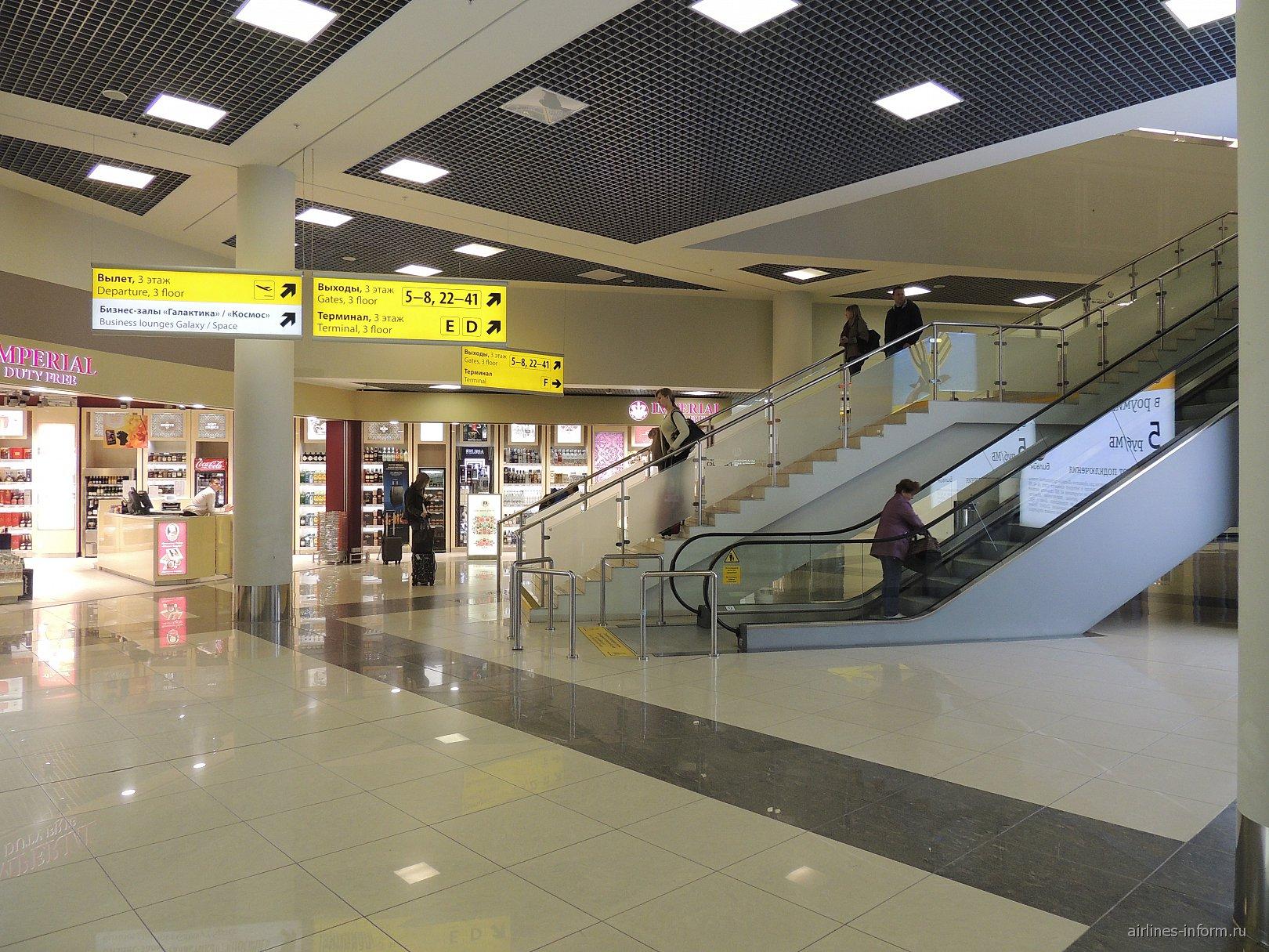 В чистой зоне терминала Е аэропорта Москва Шереметьево