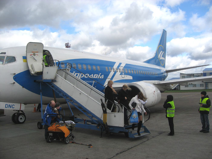Boeing 737-500 Dniproavia in Kiev Boryspil Airport