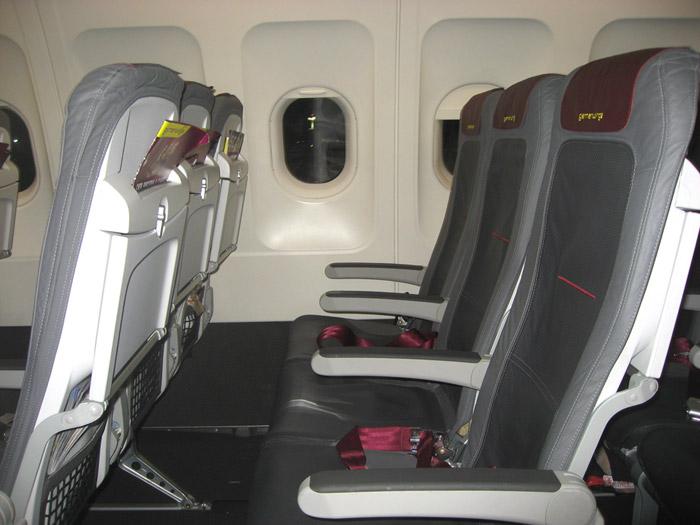 Кресла самолета Airbus A319 авиакомпании Germanwings