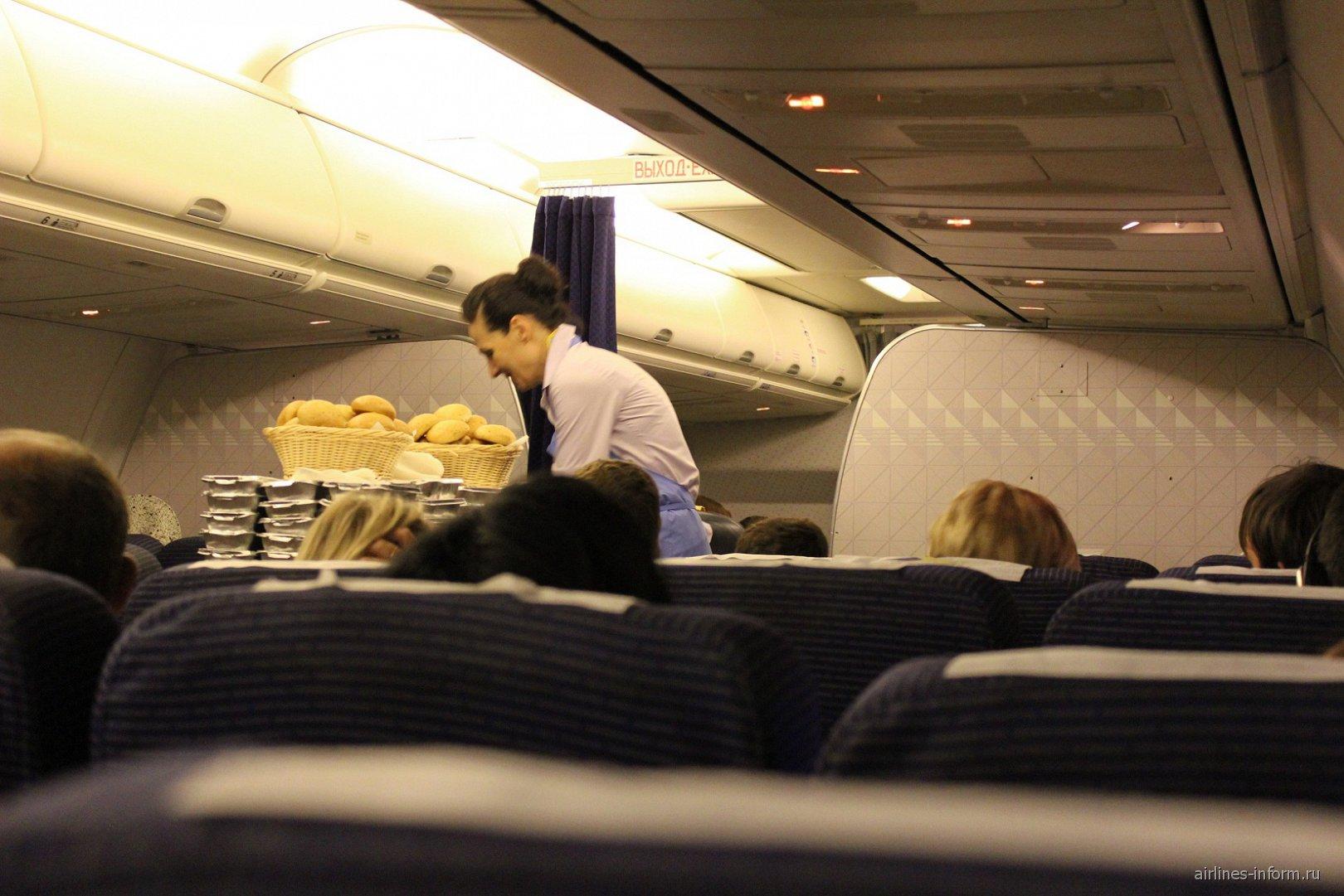 Салон самолета Боинг-737-800 авиакомпании NordStar