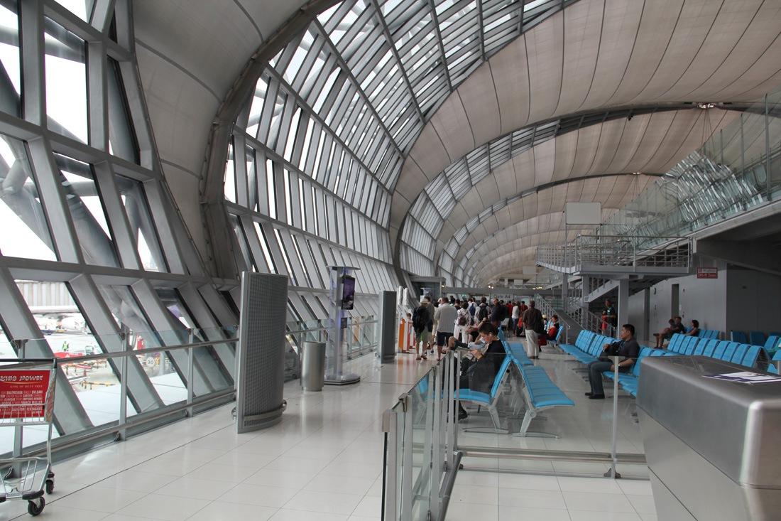 At the Bangkok Suvarnabhumi airport