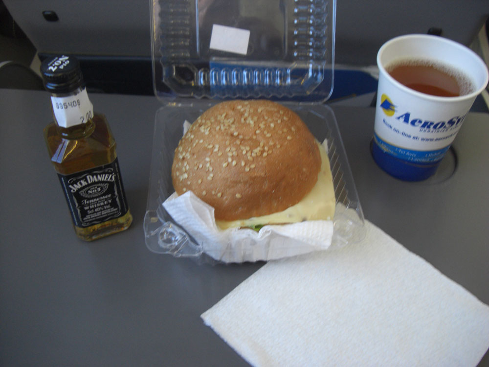 Питание на рейсе АэроСвита Донецк-Москва