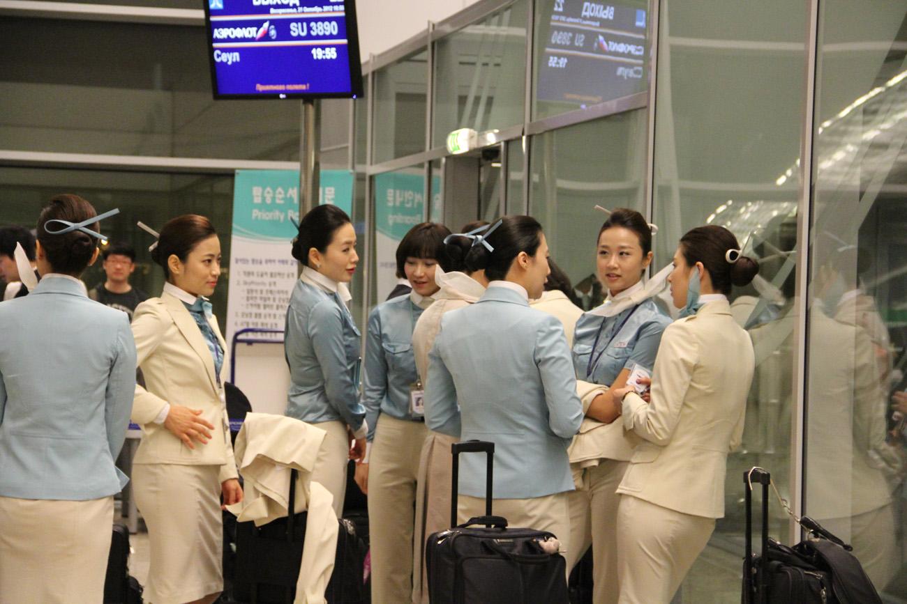Стюардессы авиакомпании Korean Air