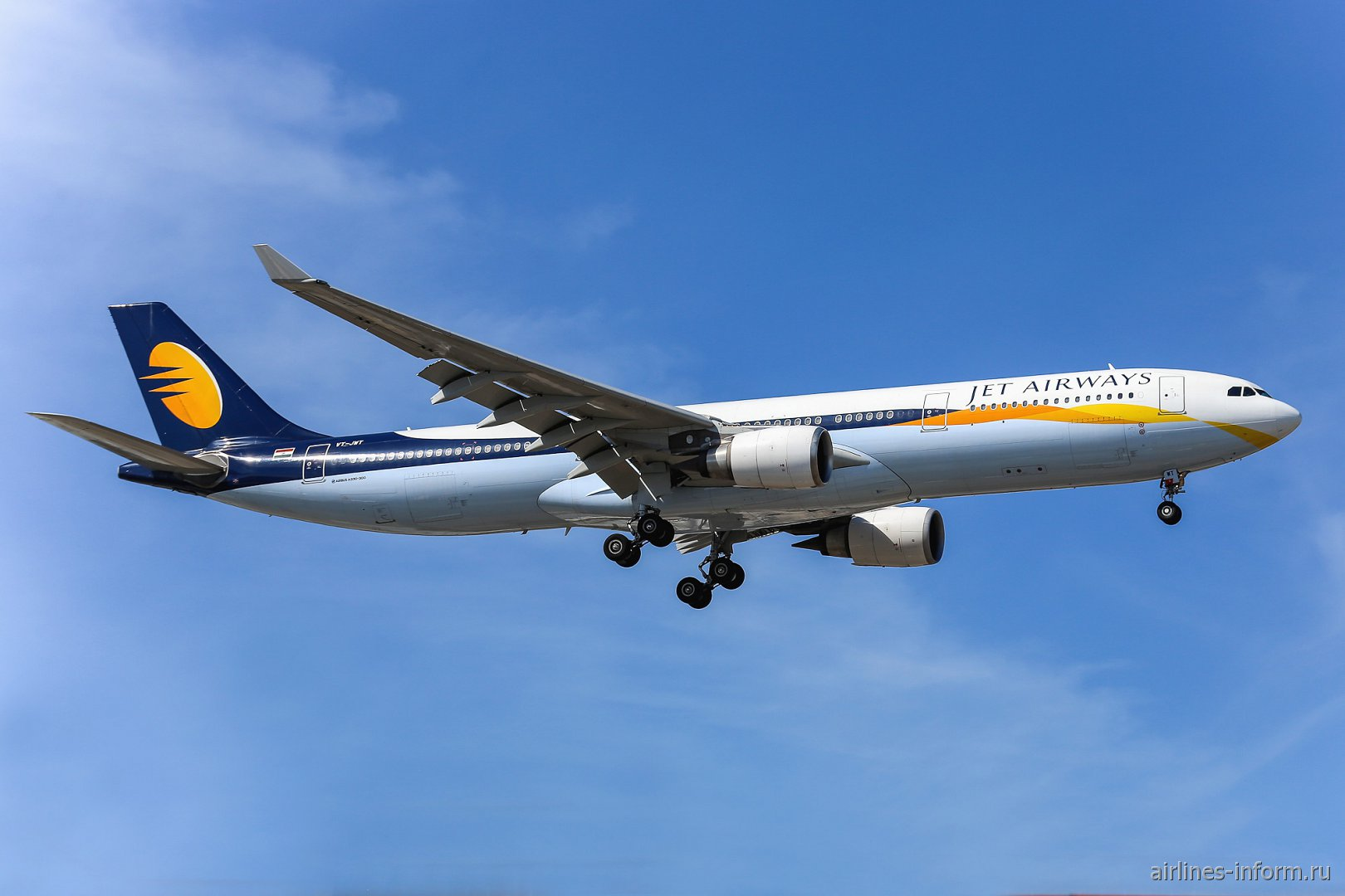Airbus A330-300 VT-JWT авиакомпании Jet Airways
