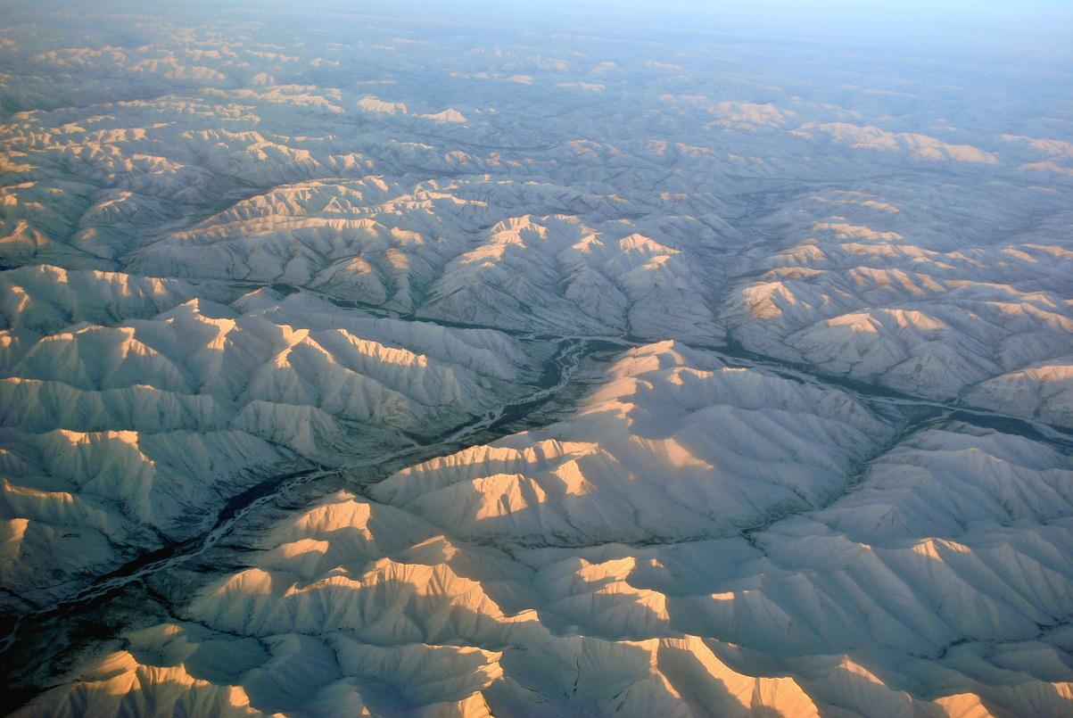 Верхоянский хребет в Восточной Сибири