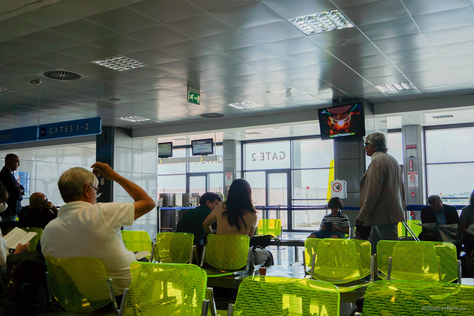 Накопитель в аэропорту Бриндизи Саленто