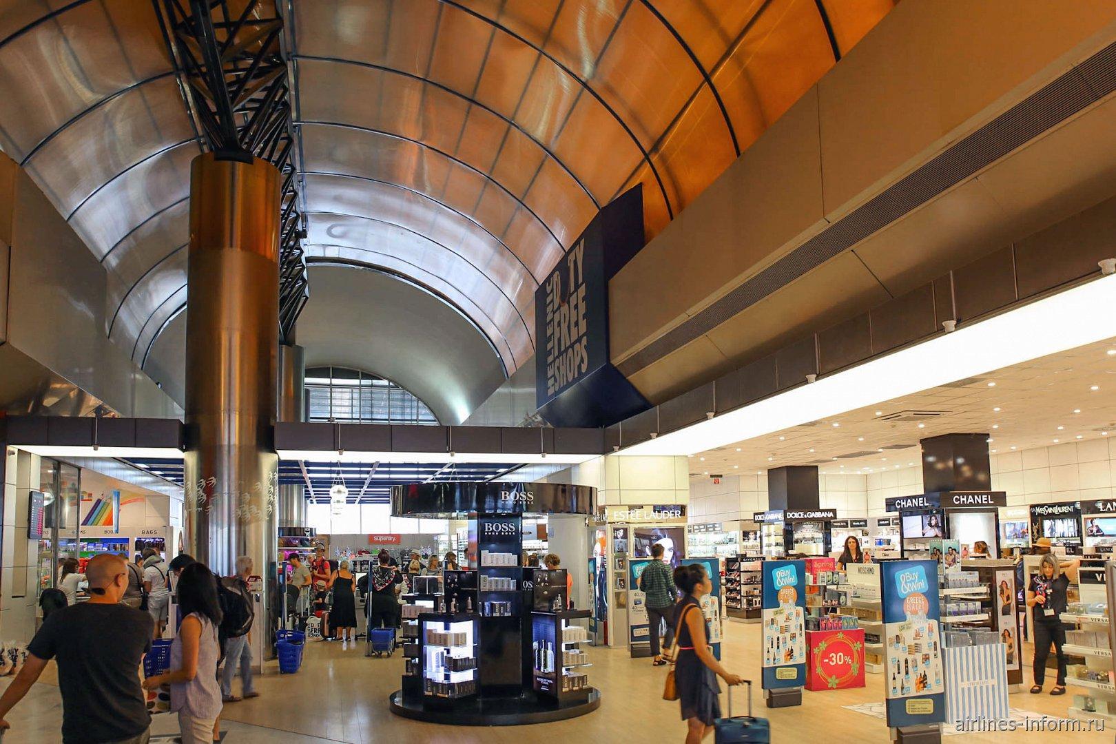 Магазин Дюти-Фри в аэропорту Салоники