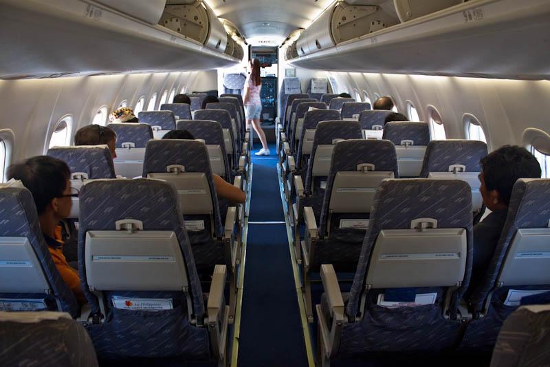 Passenger cabin of Bombardier Dash 8 Q300