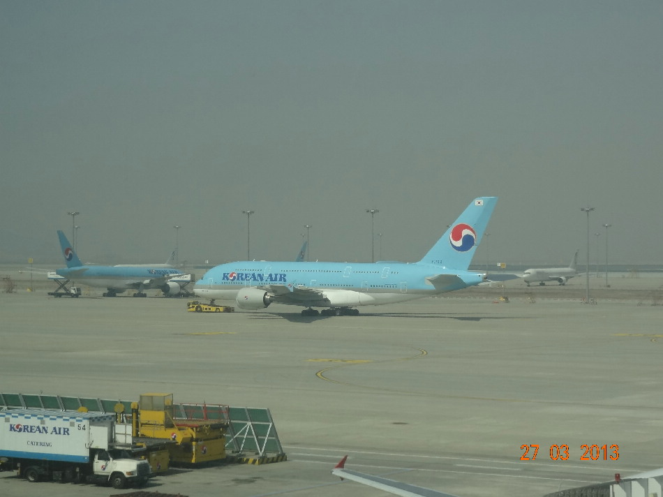 Airbus A380 Korean Air в аэропорту Сеула