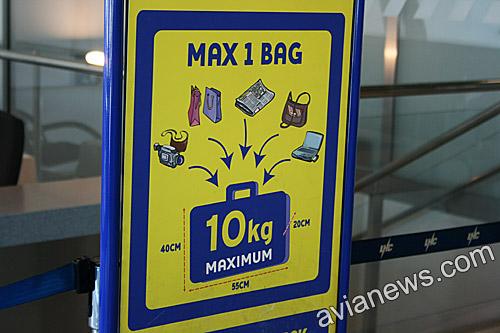 Ограничения по весу багажа Ryanair