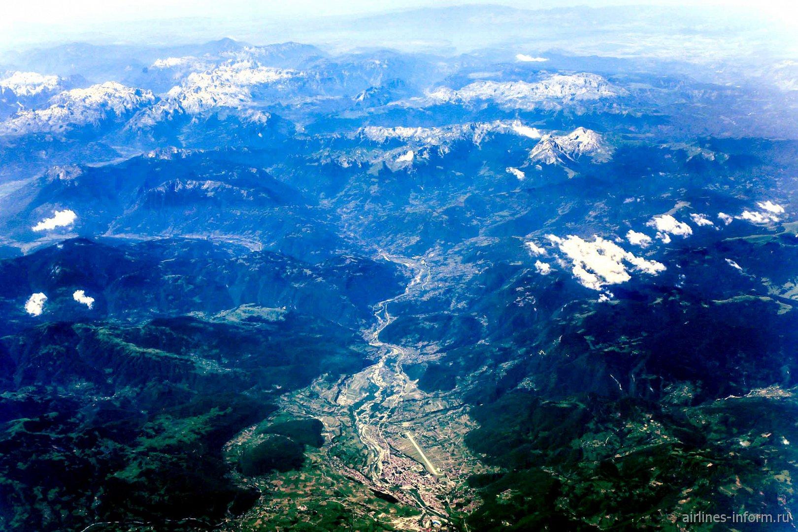 Городок Беране в горах Черногории