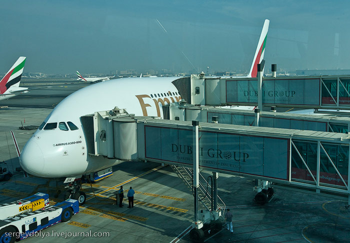Business Class on an Emirates Airbus A380