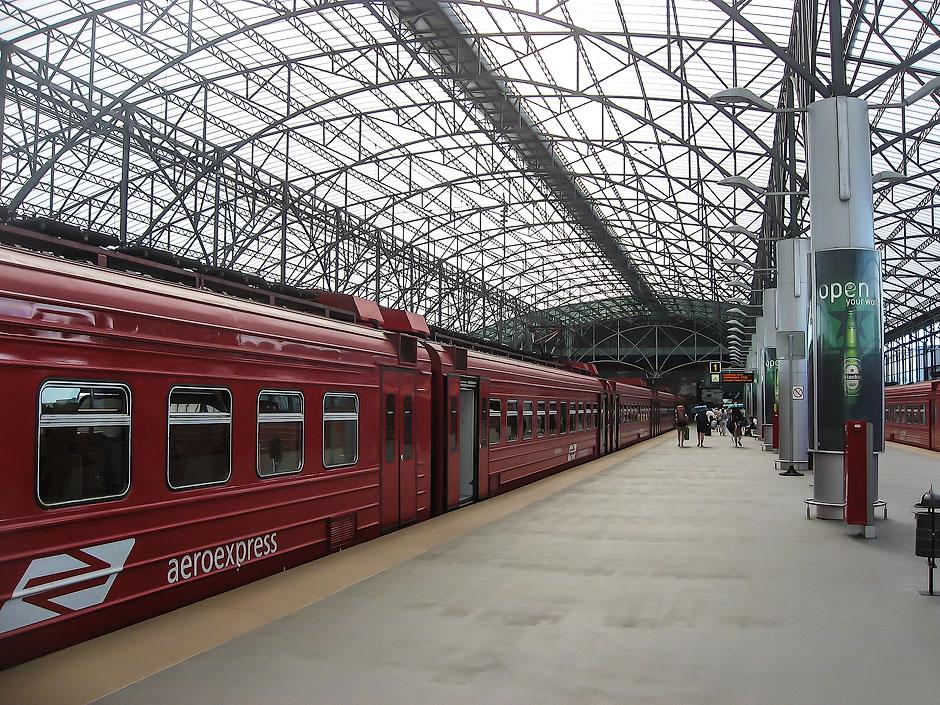 Станция Аэроэкспресса в аэропорту Шереметьево