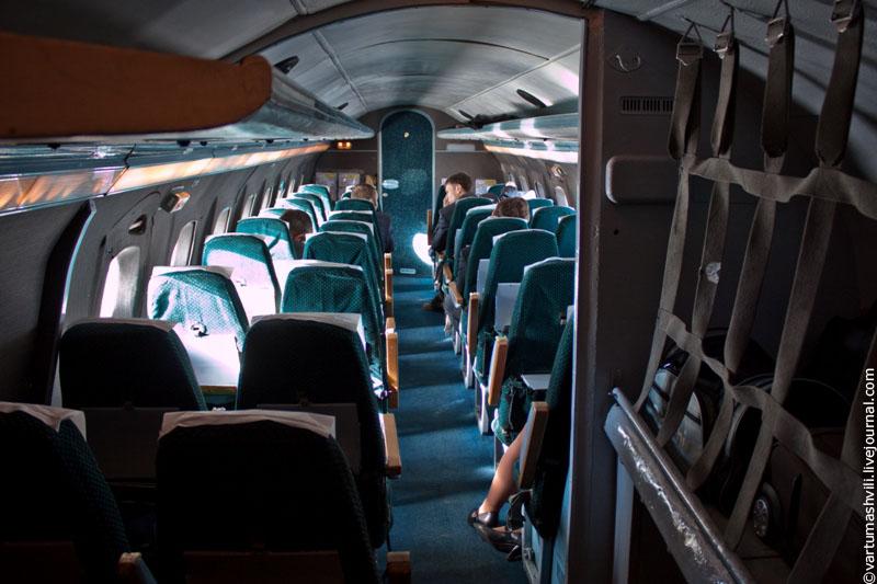 Салон самолета Як-40 Вологодского авиапредприятия