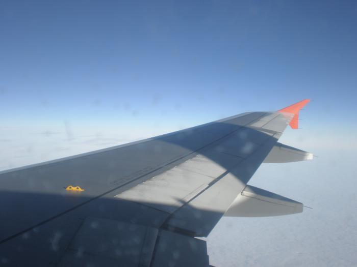 В полете рейсом Аэрофлота