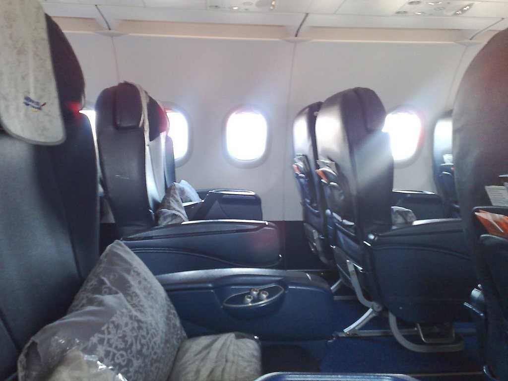 Business class cabin in Aeroflot Airbus A321