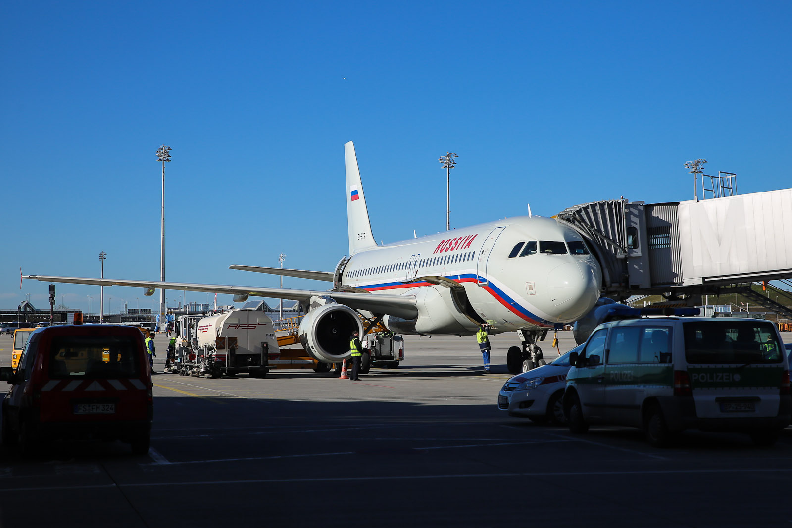 Airbus A320 авиакомпании Россия в аэропорту Мюнхена