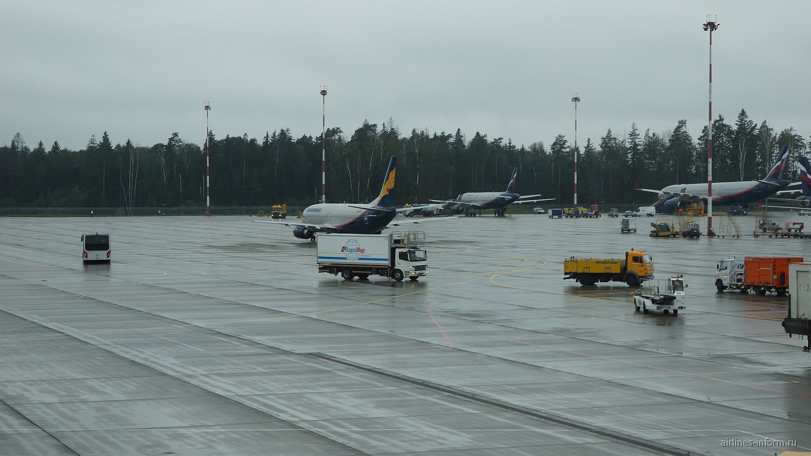 Самолеты Аэрофлота в аэропорту Шереметьево