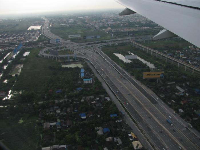 В небе над Бангкоком