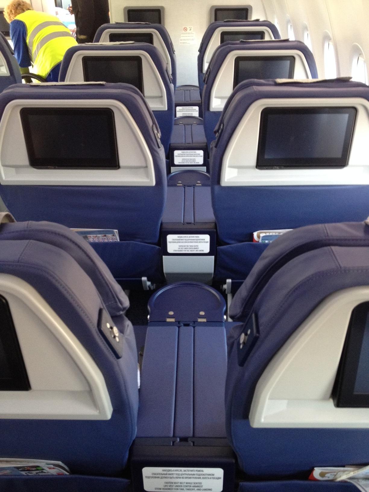 Салон самолета Боинг-737-800 Аэрофлота