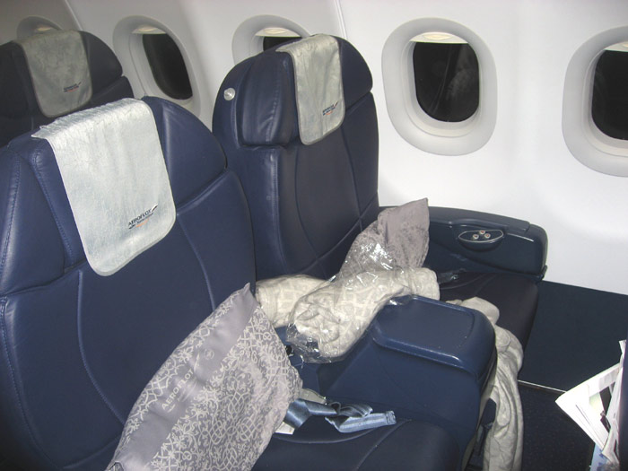 Business class seats of Aeroflot Airbus A320