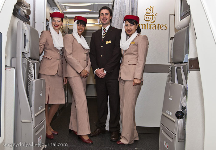 Экипаж авиакомпании Emirates