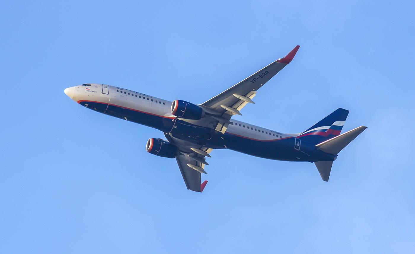 В небе Боинг-737-800 Аэрофлота