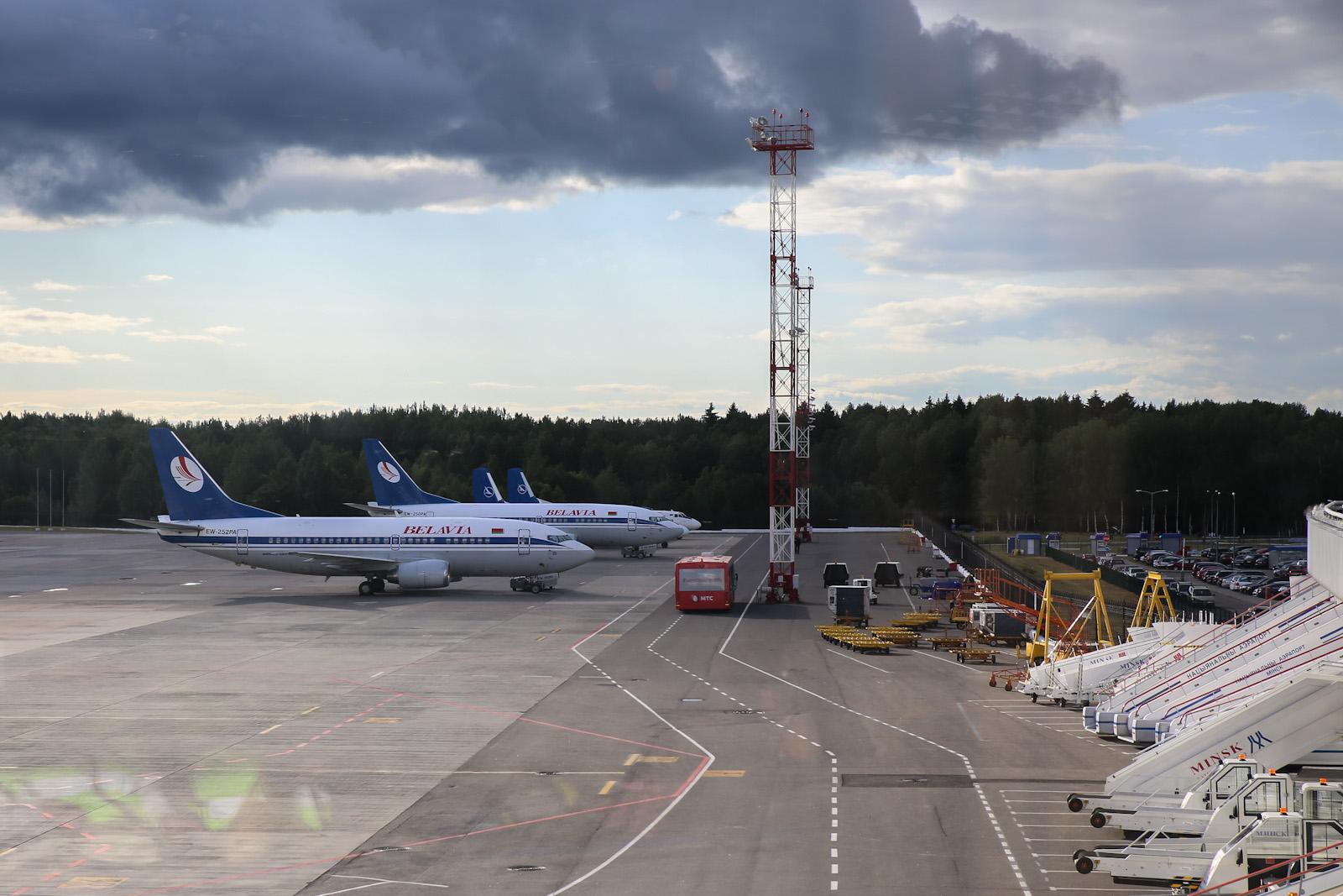 Самолеты Белавиа на перроне аэропорта Минск