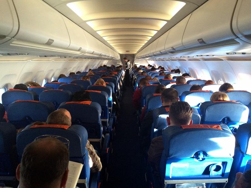 Салон самолета Эрбас А320 Аэрофлота