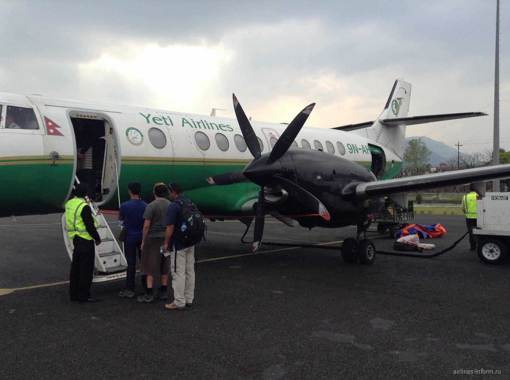 Покхара - Катманду с Yeti Airlines на ВАе  Jetstream 41
