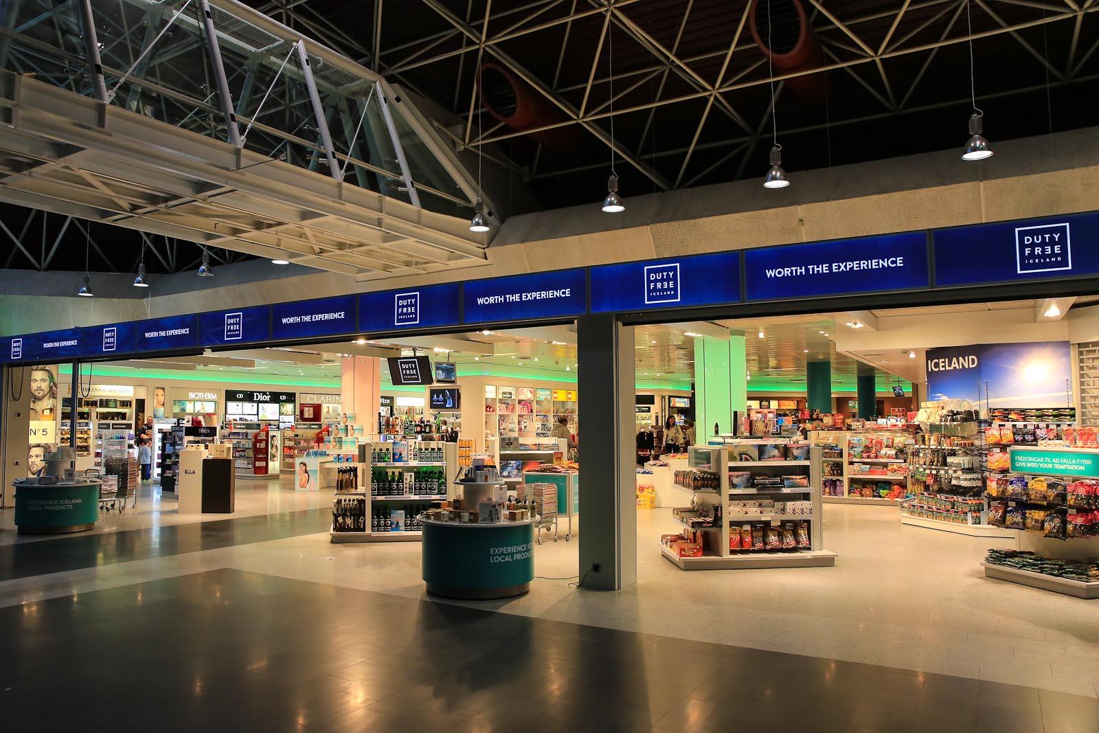 Магазин Duty-Free в аэропорту Кефлавик