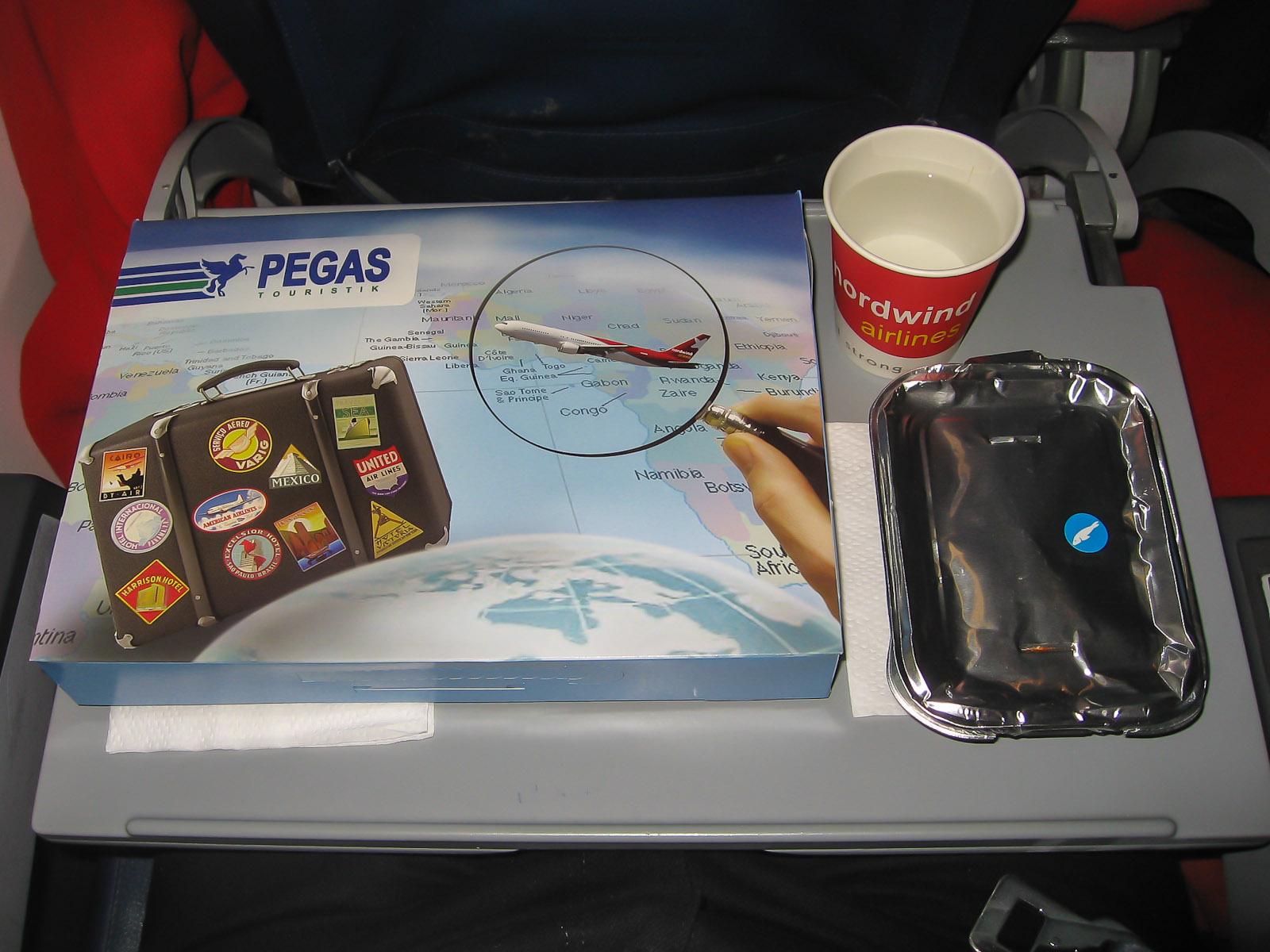 Питание на рейсе Красноярск-Москва авиакомпании Nordwind