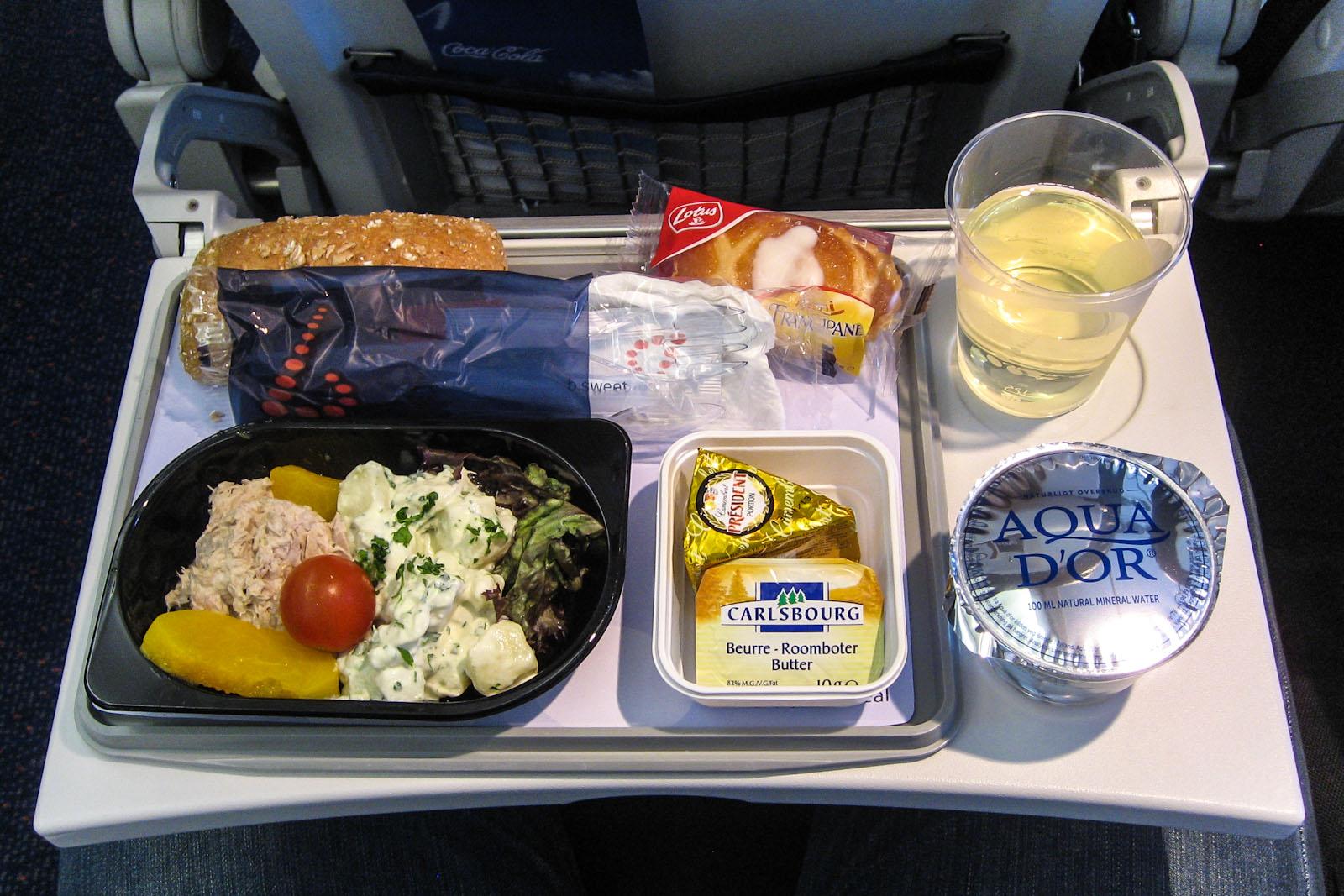 Питание на рейсе Москва-Брюссель авиакомпании Brussels Airlines