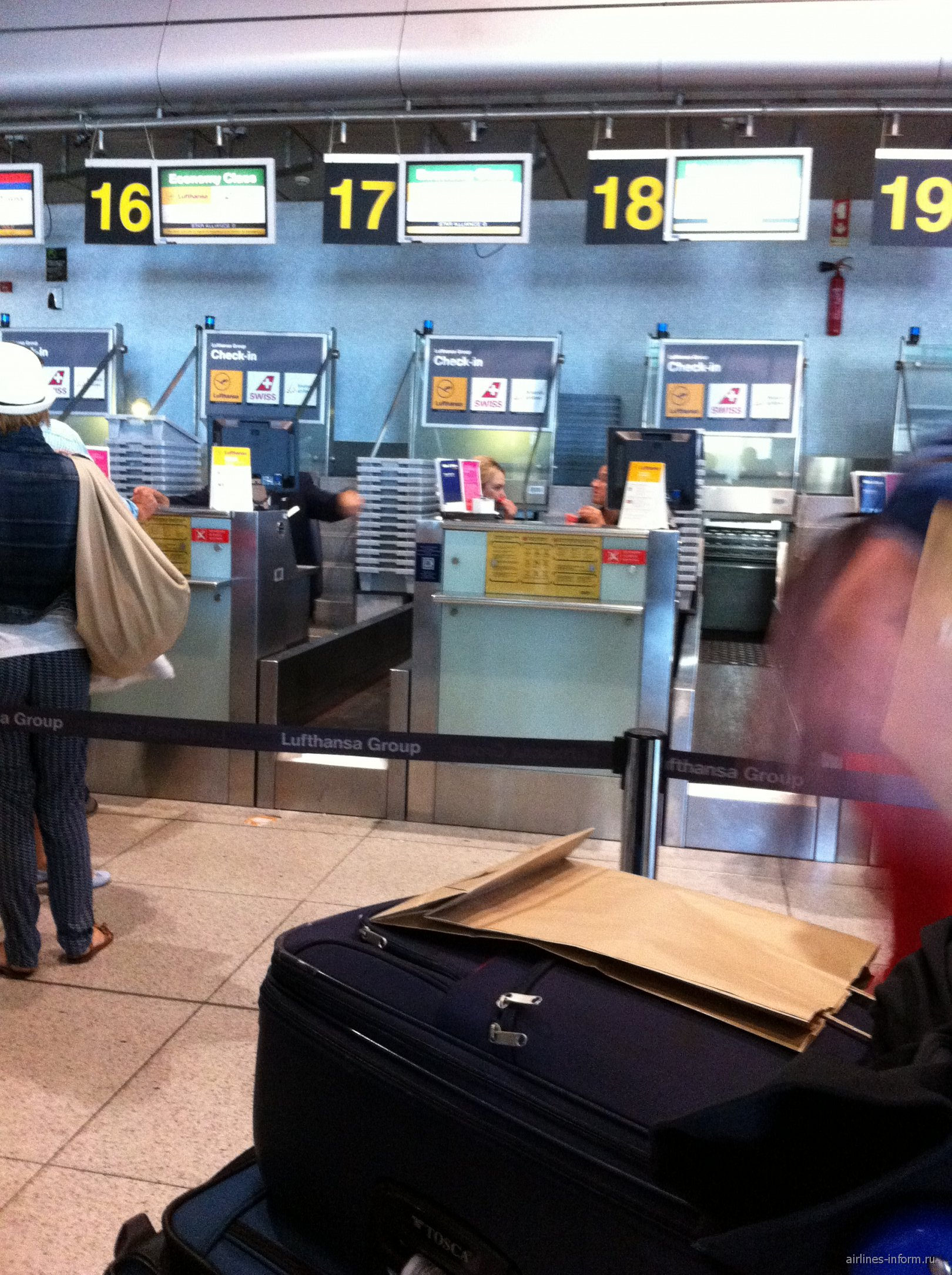 Стойки регистрации Lufthansa, Swiss, Brussels Airlines