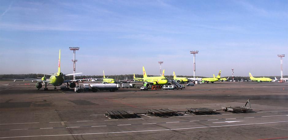 Самолеты S7 Airlines в аэропорту Домодедово