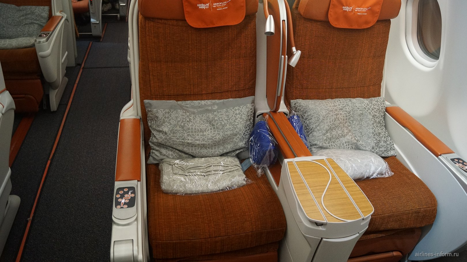 Кресла бизнес-класса в самолете Airbus A320-200 Аэрофлота