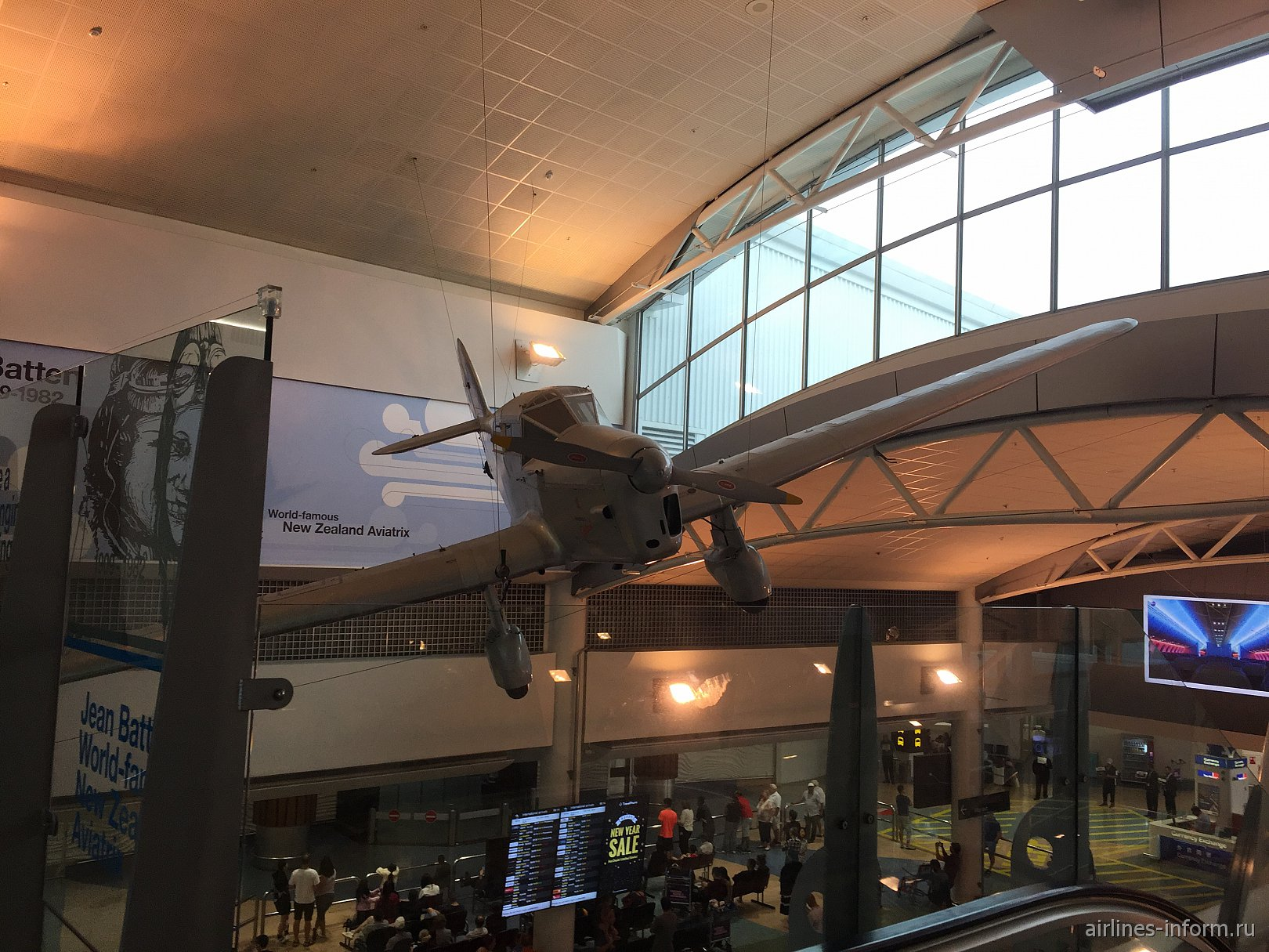 Самолет Percival Gull Джины Баттен в аэропорту Окленд, Новая Зеландия