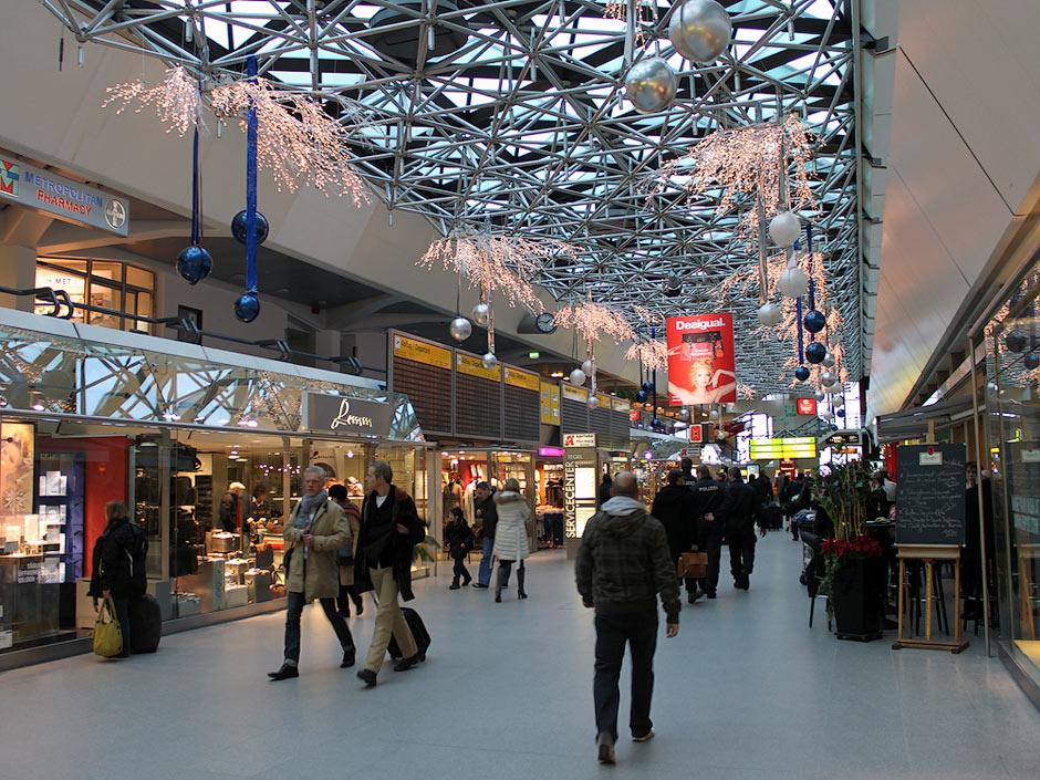 Walkways in the terminal of Berlin Tegel Airport