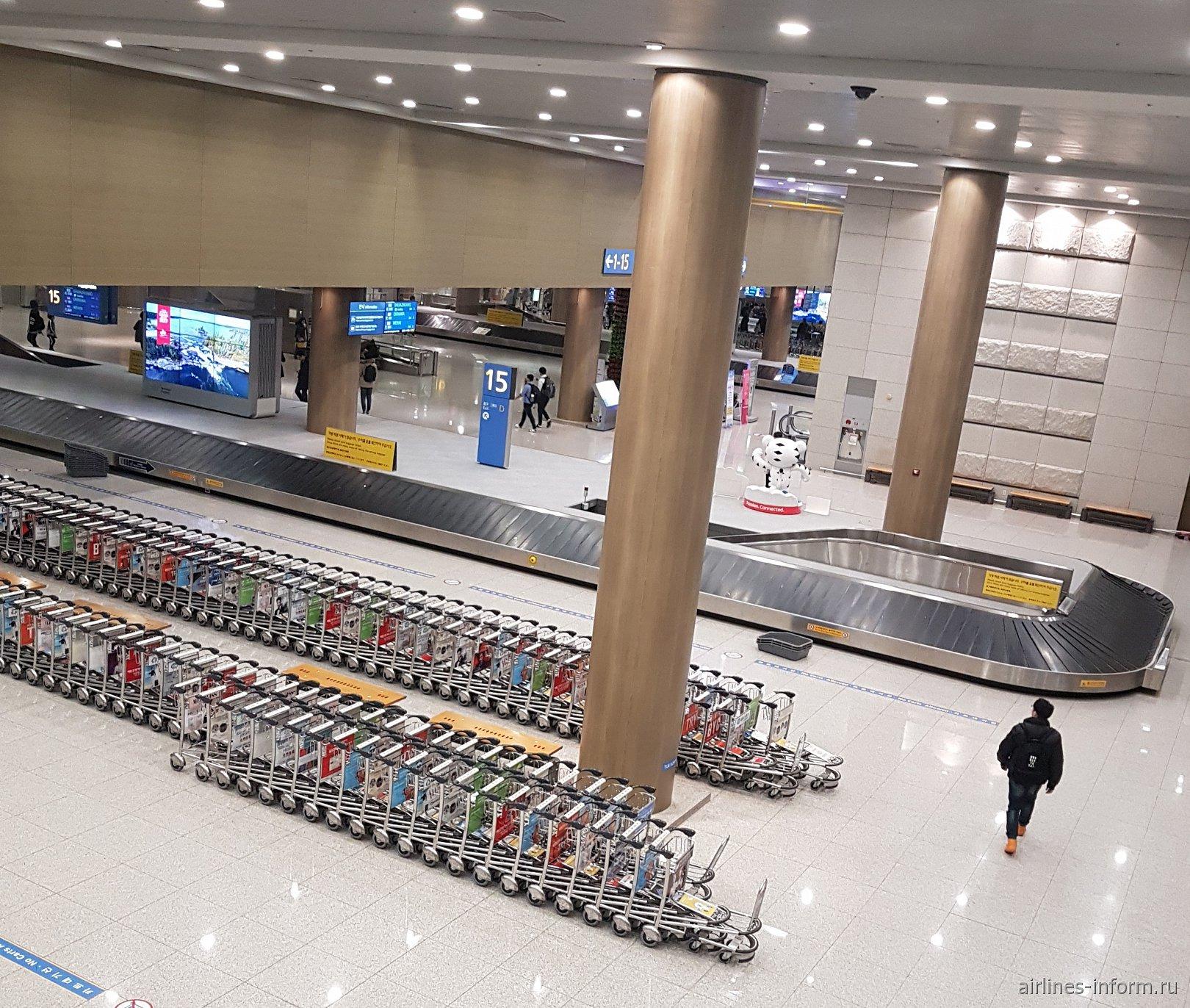 Зона выдачи багажа в аэропорту Сеул Инчхон