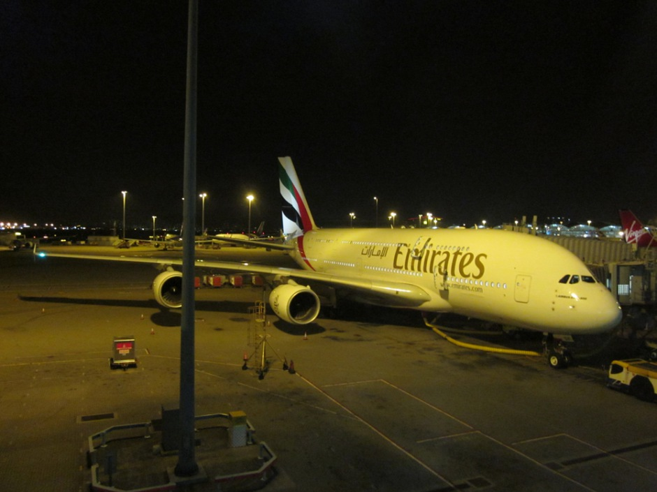 Airbus A380 of Emirates in Dubai