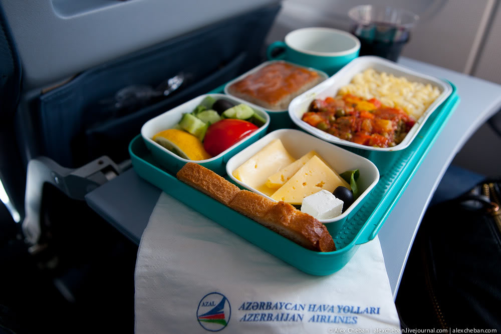 Meal on an AZAL flight Kyiv-Baku