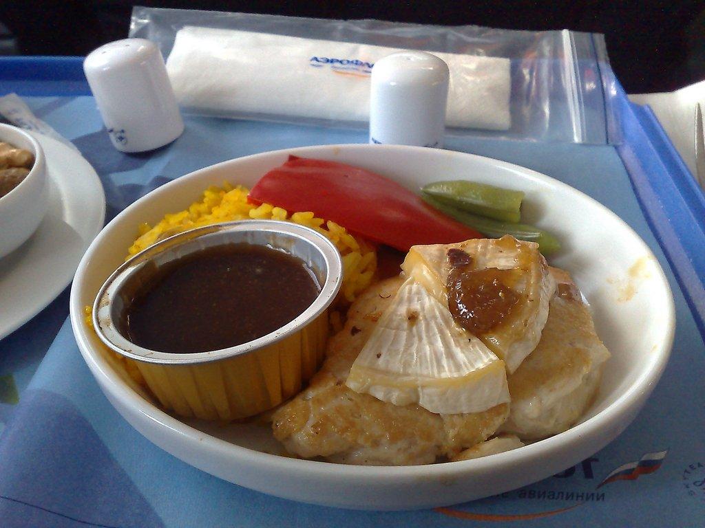 Питание в бизнес-классе на рейсе Аэрофлота Москва-Рим