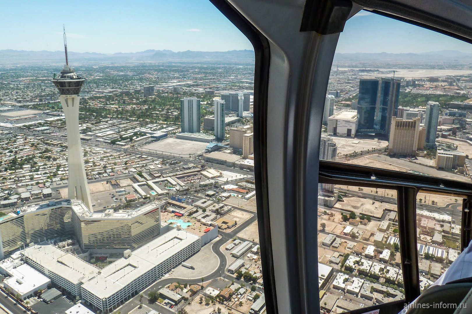 В полете над центром Лас-Вегаса