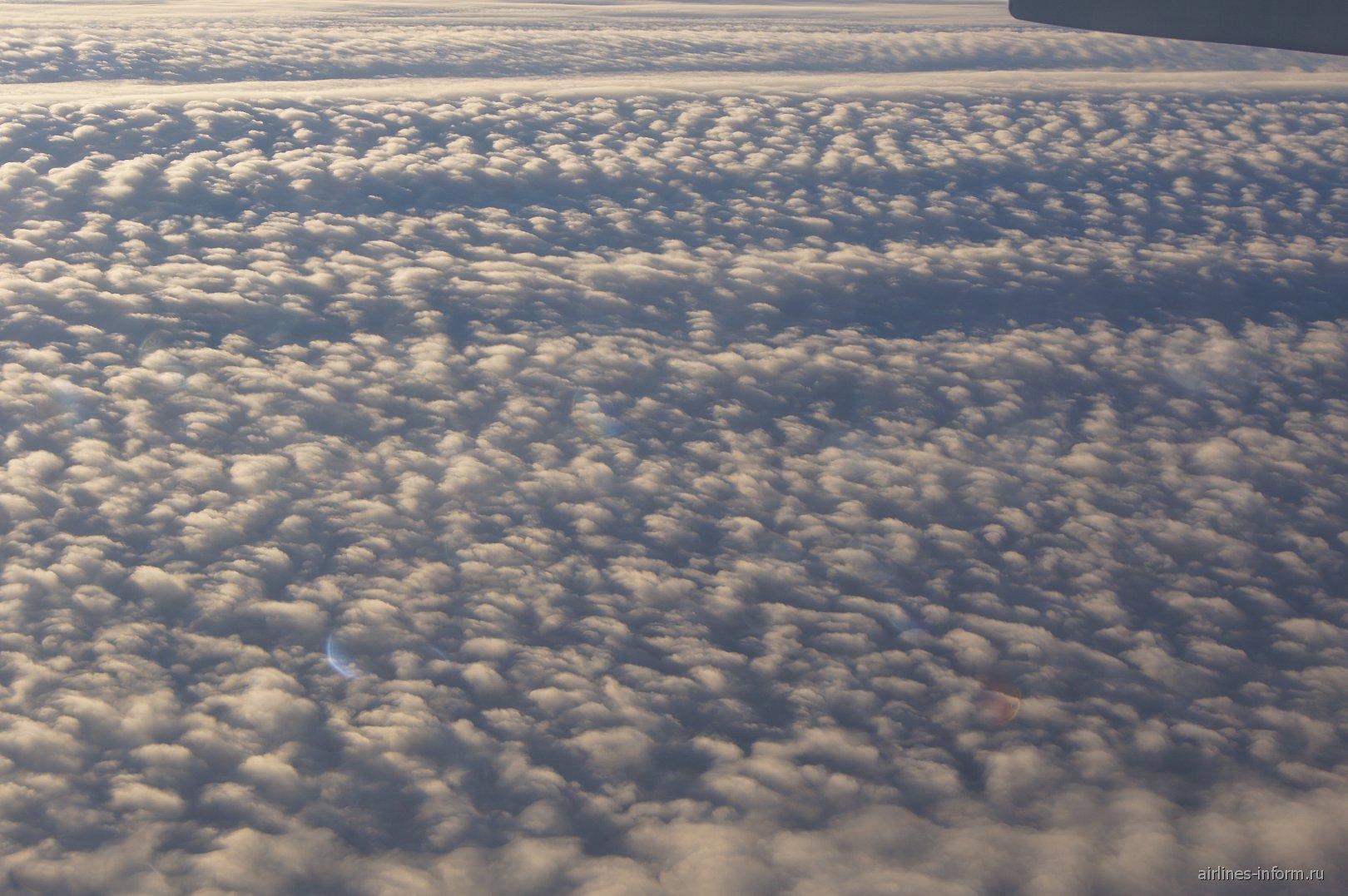 Облака над Россией, рейс Новосибирск-Москва