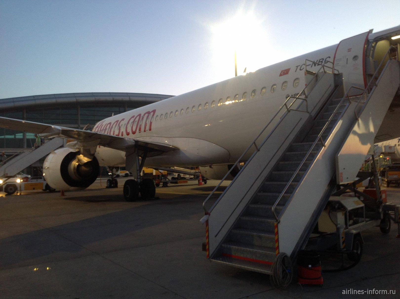 Французские заметки (на Ле Бурже и не только): часть 1 Харьков (HRK) - Стамбул Сабиха Гёкчен (SAW) с Pegasus airlines на A320 (TC-NBC)