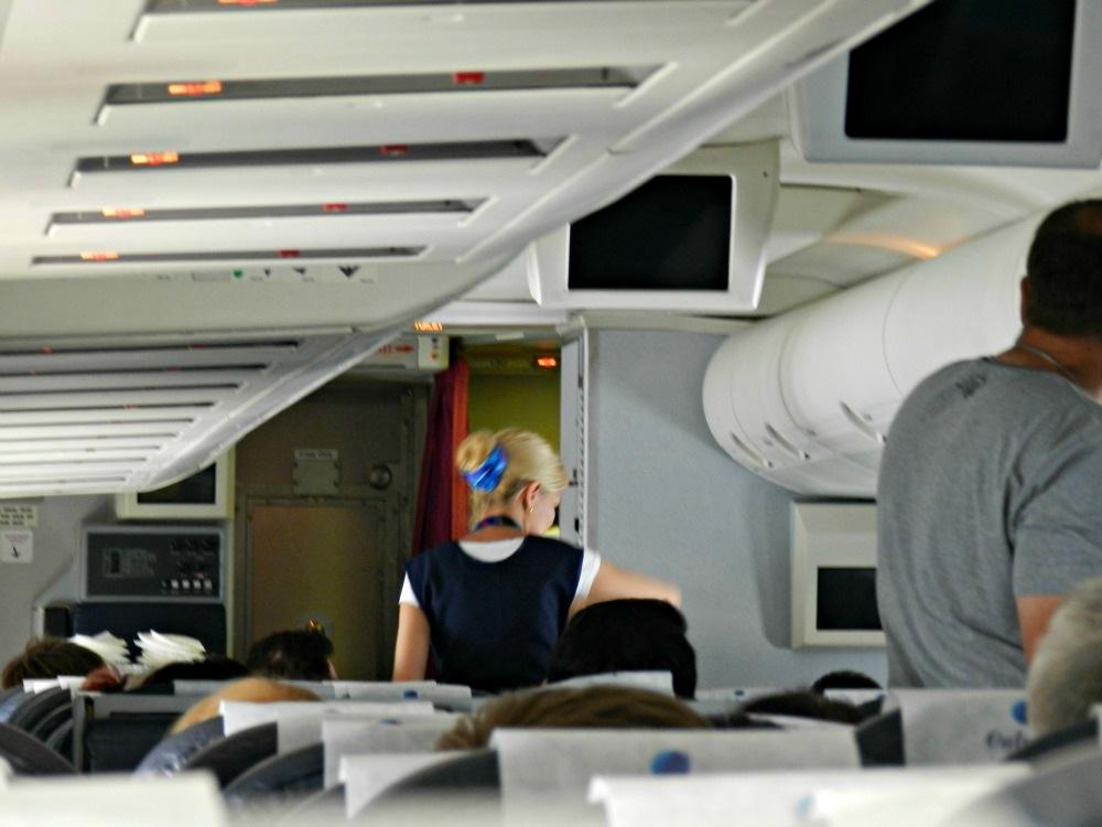 Passenger cabin of SCAT Boeing 757-200