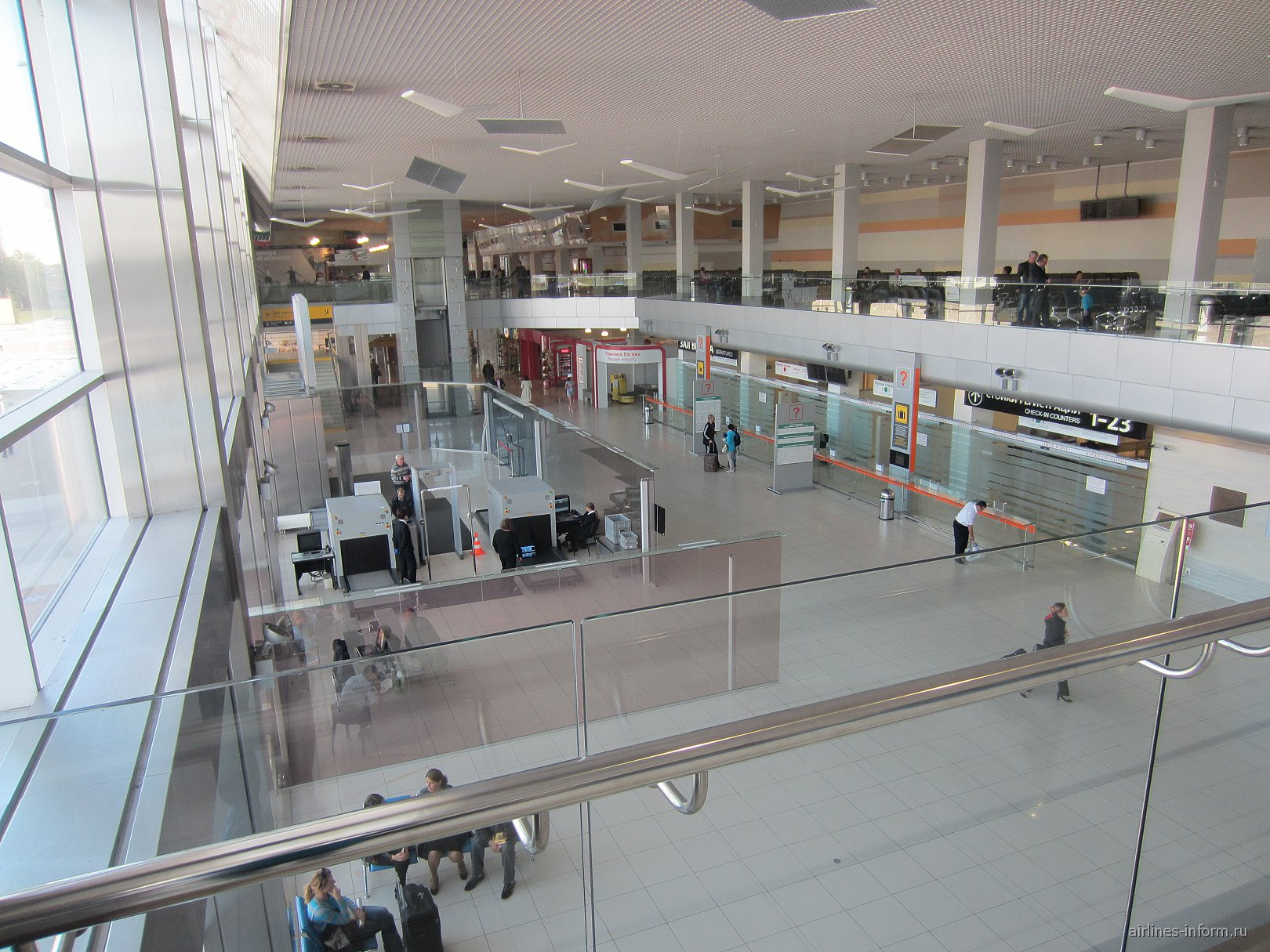 В международном терминале аэропорта Екатеринбург Кольцово