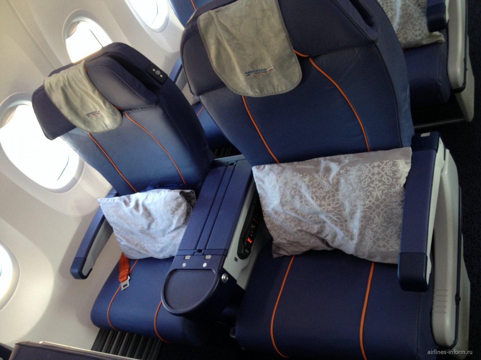 Кресла бизнес-класса в самолете Боинг-737-800 Аэрофлота