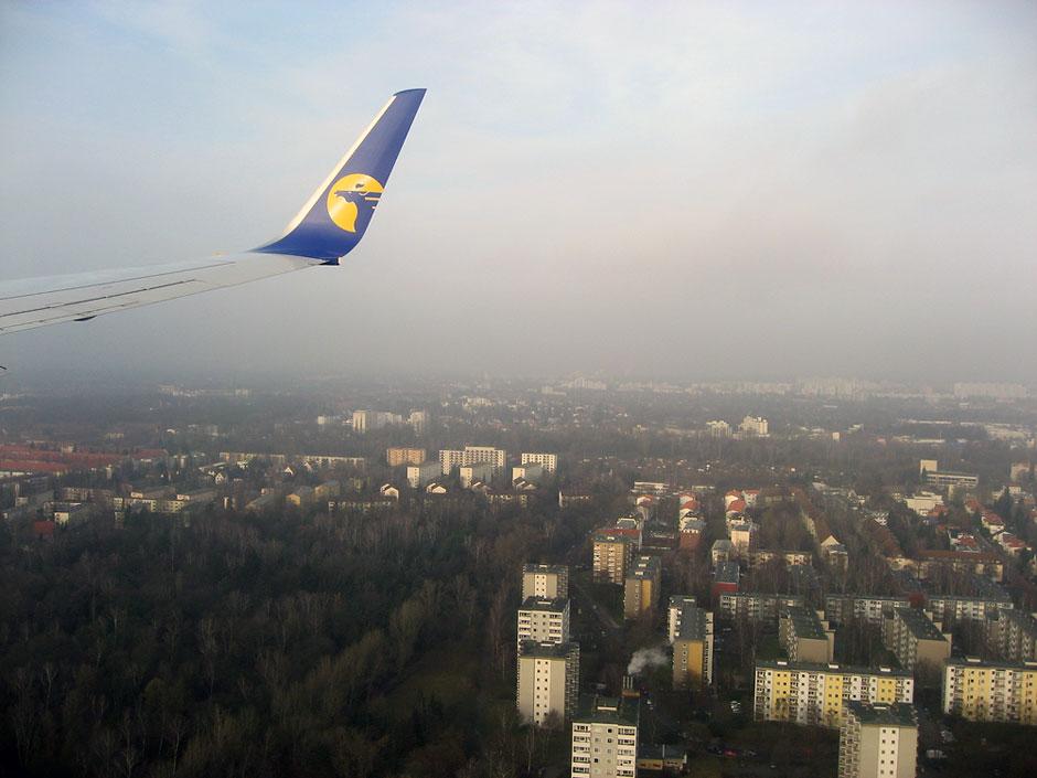 Landing to Berlin Tegel Airport